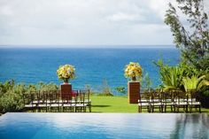 Private estate wedding on Kauai, Hawaii. Moana Events Kauai wedding planner #wedding #ceremony