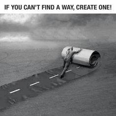 Maak de weg voor anderen.