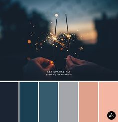 a sparkler-inspired color palette