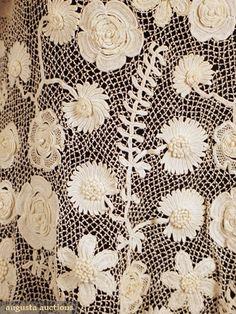 Edwardian crochet jacket detail