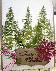 watercolor trees #diy #crafts #cards www.BlueRainbowDesign.com