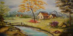 pintura em tecido paisagens - Pesquisa Google
