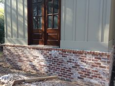hardie board over brick house - Google Search