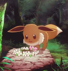 While eevee becomes queen of the forest