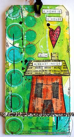 Tag by thekathrynwheel, using Dylusions stamps