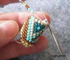Double stitch crochet rope with yarn over steps. Surprisingly good photos with fewer missed steps than other instructions. Use translate.Crochet Patterns Tutorial The best double bead crochet tutorial I've seen….Excellent video tutorial for making bead Rope Jewelry, Seed Bead Jewelry, Beaded Jewelry, Handmade Jewelry, Rope Necklace, Jewellery, Crochet Beaded Bracelets, Handmade Beads, Bead Earrings