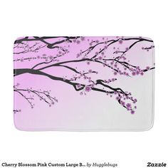 Cherry Blossom Pink Custom Large Bath Mat