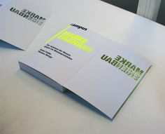 Marke Eigenbau Bookcover by Thomas Weyres, via Behance