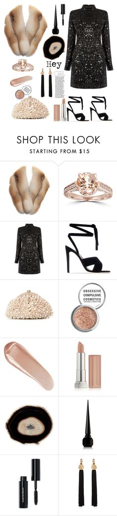"""Hey Girl"" by felicitysparks ❤ liked on Polyvore featuring Bliss Diamond, Warehouse, Gianvito Rossi, Santi, Obsessive Compulsive Cosmetics, NARS Cosmetics, Maybelline, Christian Louboutin, Bobbi Brown Cosmetics and Yves Saint Laurent"