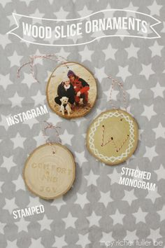 Wood Slice Ornaments {More Christmas Fun!}