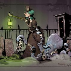 Brian Kesinger is my favorite artist.  Like ever.  #ottoandvictoria #hauntedmansion #travelingwithyouroctopus