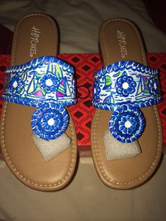These are knock off Jack Rogers, called Hot Cakes, they look exactly the same so they are obviously super cute!
