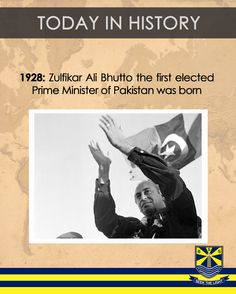 #TodayInHistory 5th Jan 1928: Zulfikar Ali Bhutto the first elected Prime Minister of Pakistan was born