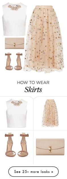 """stars pattern skirt"" by shaym345 on Polyvore featuring Valentino, Ted Baker, Gianvito Rossi and Dolce&Gabbana"