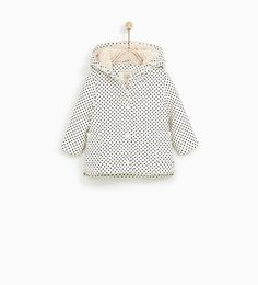 Image 2 of POLKA DOT RAINCOAT WITH FAUX FUR from Zara