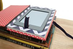 IPad/Kindle holder made from an old book.