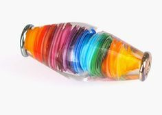 Pearly RainBow - Lampwork bead by Pearly Karpel (pearlykarpel on Etsy).