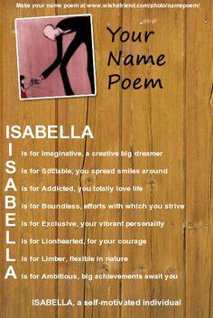 b83ddccf9e9d Isabella Name Poem by gingapony123.deviantart.com on  deviantART Baby On A  Budget