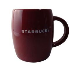 STARBUCKS red barrell coffee mug embossed