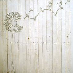 Nice Wandgestaltung Pusteblume D Wand Deko ein Designerst ck von westpakete bei DaWanda