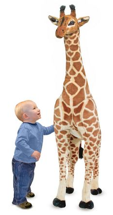 I love how big this giraffe is. Melissa and Doug Melissa & Doug Jumbo Plush Giraffe Giant Giraffe, Giraffe Decor, Giraffe Nursery, Safari Nursery, Animal Nursery, Nursery Themes, Girl Nursery, Nursery Ideas, Giant Stuffed Animals