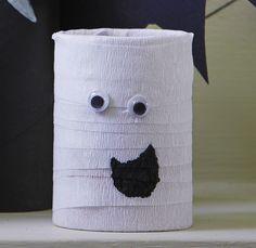 How to Make Halloween Toilet Roll Craft #Halloween #KidsCraft #Ghost