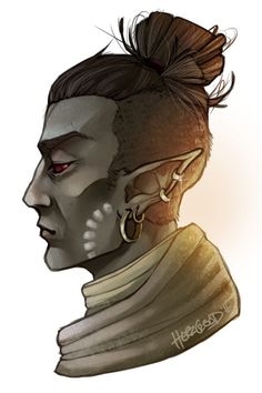 """I'm currently obsessed with TES Morrowind, so have a scribble of my Dunmer son Relyn! Wanted to try out some effects and yes.. I like it B)  [[MORE]]""""Relyn lived in the Third Era on Vvardenfell and was the child of a fanatic dreamer lady, who..."""