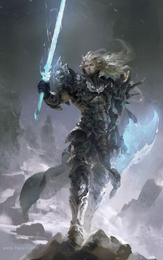 super ideas for fantasy art warrior character inspiration swords Fantasy Artwork, Fantasy Concept Art, Fantasy Male, Fantasy Character Design, Character Concept, Character Art, Warrior Concept Art, Fantasy Paintings, Digital Paintings