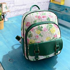 Women's Vintage Lace Floral Backpack