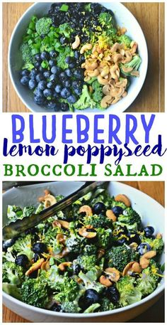 Salad Recipes 86905467795873162 - Blueberry Lemon Poppyseed Broccoli Salad – Make the Best of Everything Source by sflamm Healthy Salad Recipes, Whole Food Recipes, Diet Recipes, Healthy Snacks, Vegetarian Recipes, Healthy Eating, Cooking Recipes, Healthy Broccoli Salad, Clean Eating Salads