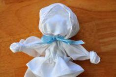 Making a hankie doll or a church pew doll