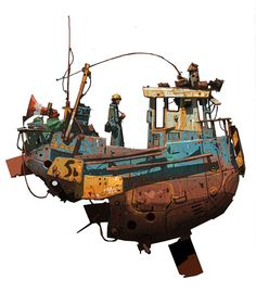 'WALDO' colour sketch - Ian McQue