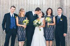Wedding Party - Blue Dresses + Yellow Flowers - Su Ann Staff Winery - #Toronto #wedding #photography Blue Party Dress, Yellow Dress, Blue Dresses, Toronto Wedding, Bridesmaid Dresses, Wedding Dresses, Yellow Flowers, Wedding Photos, Ann