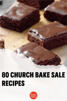 A good old-fashioned church bake sale is hard to beat. These heavenly cookies, bars, breads and pies will inspire you to bake up a few batches of the delicious money-makers at home. Chocolate Glaze, Chocolate Peanuts, Melting Chocolate, Brownie Recipes, Cookie Recipes, Bake Sale Recipes, Lithuanian Recipes, Strawberry Oatmeal, Pecan Pie Bars