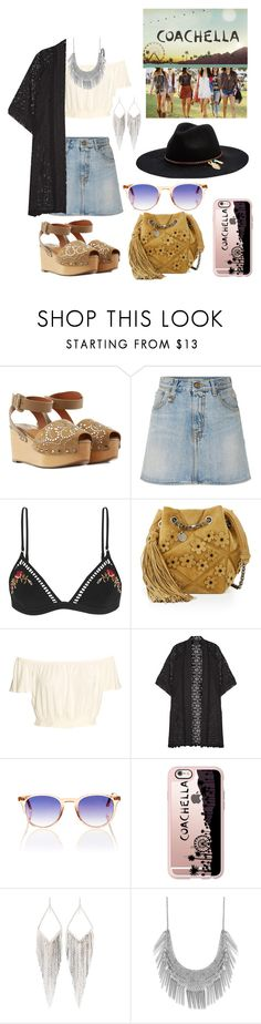 """Coachella"" by carlybae ❤ liked on Polyvore featuring Valentino, R13, Zimmermann, Roger Vivier, Anna Sui, Garrett Leight, Casetify, Jules Smith, Lucky Brand and Seafolly"