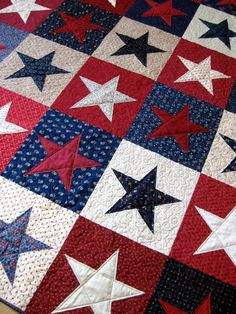 Olympics Patriotic Quilt   Red White and Blue   by SallyManke, $335.00