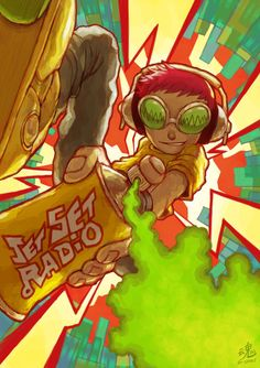 Mischievous Boy! Did a fan art of Jet Set Radio featuring my favourite skater Beat. I love JSR, one of the best game on the Dreamcast. Drawn by me Ry-Spirit