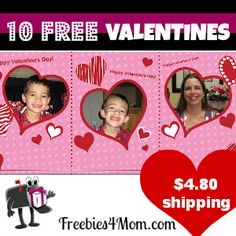 Time to order your Valentine's - here are mine and they cost me 4.80 shipping for 30 http://freebies4mom.com/2013/01/28/10freecards/