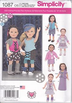 Vêtements de poupée American Girl simplicité par patternsandcrafts