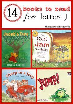 Fun read aloud books for preschool... great to read alongside letter J activities