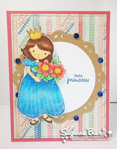 Card by Suzanne for Whimsy and Stars Studio Stamps. Digi Stamp: Amelia