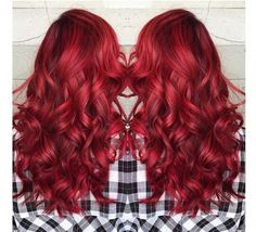 Red hair colors ideal for winter Crimson red, copper, wine