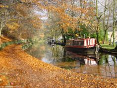 Canal boat in England -- so restful