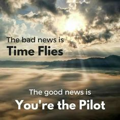 You're your own pilot