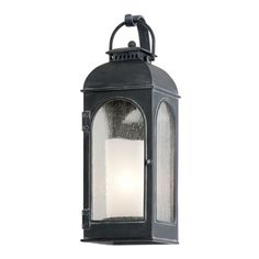 Troy Lighting Outdoor Wall Light with Clear Glass in Antique Iron Finish B3281