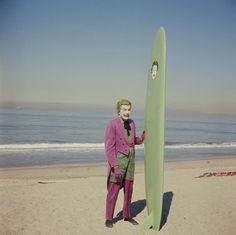 "Cesar Romero prior to film his surfing scene with Adam West in ""Batman"", 1967 x O Joker, Joker And Harley, Harley Quinn, Adam West, Ip Man, Batman 1966, Im Batman, Superman, Batman Stuff"