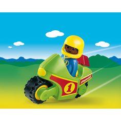 Playmobil 1.2.3 Motocykl wyściogowy, 6719, klocki