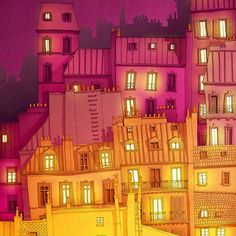 Vibrant Illustrations of the Lights of Paris – Fubiz Media