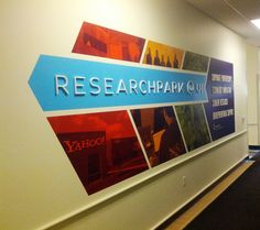 Research Park 3D lettering on wall graphics