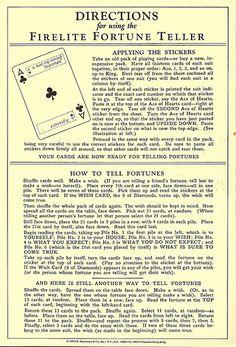 Fortune Teller, Vintage, How to | Shelece | Flickr